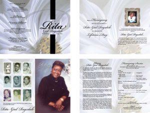 Rita Gail Ragsdale Funeral Program